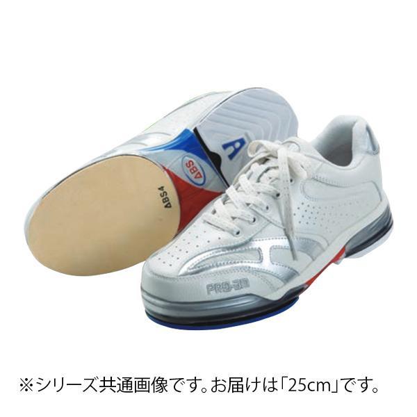 【代引き・同梱不可】ABS ボウリングシューズ ABS CLASSIC 左右兼用 ホワイト・シルバー 25cm