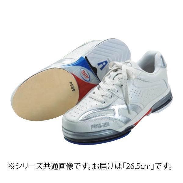 【代引き・同梱不可】ABS ボウリングシューズ ABS CLASSIC 左右兼用 ホワイト・シルバー 26.5cm