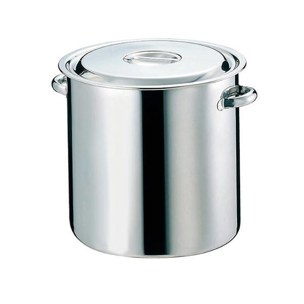 【代引き・同梱不可】EBM 18-8 キッチンポット/寸胴鍋(目盛付)51cm パイプ手付 4000