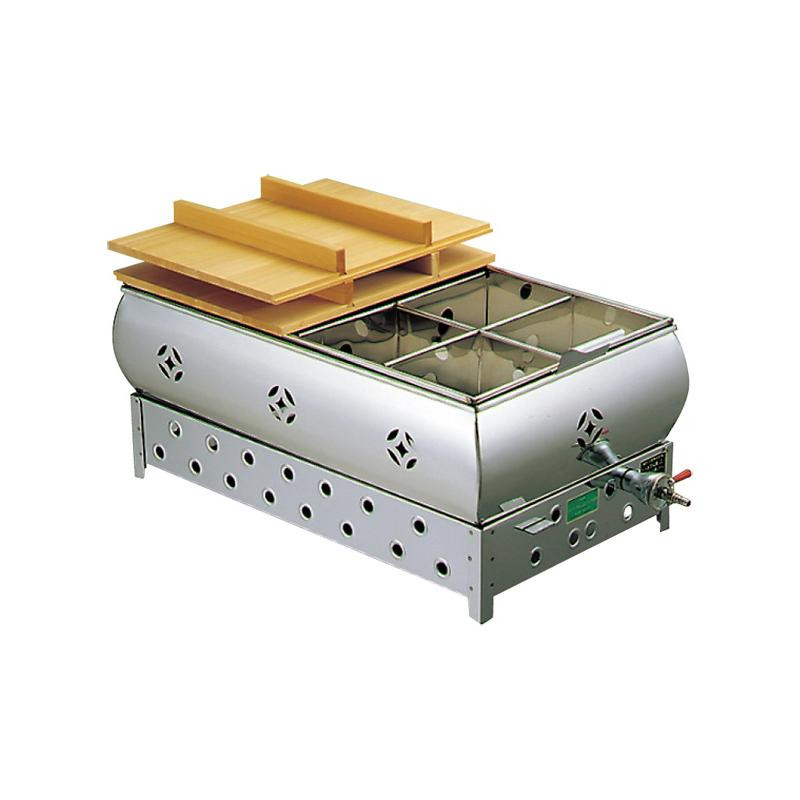 【代引き・同梱不可】EBM 18-8 おでん鍋 尺4(42cm)13A 876520