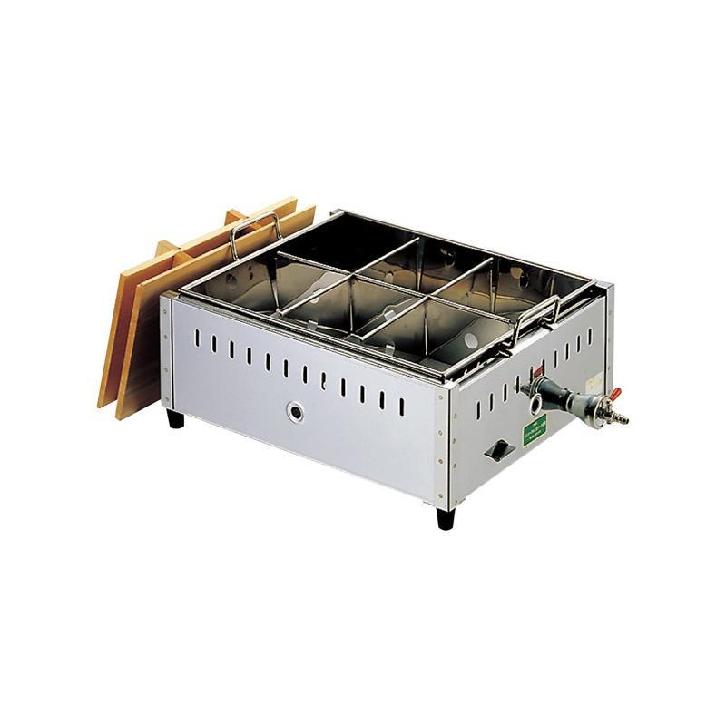 【代引き・同梱不可】EBM 18-8 関東煮 おでん鍋 尺5(45cm)LP 885810ガス 日本製 調理器具