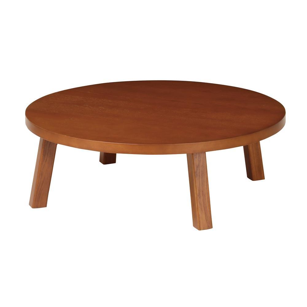 【代引き・同梱不可】テーブル(折脚) ブラウン TZR100BR