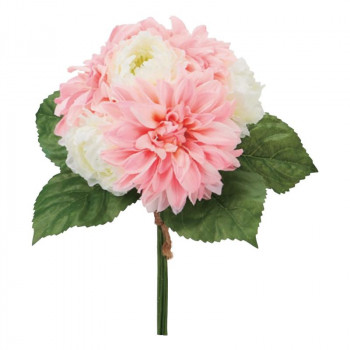 【代引き・同梱不可】アーティフィシャルフラワー ダリアブーケ ピンク 6本セット P4819 アレンジメント