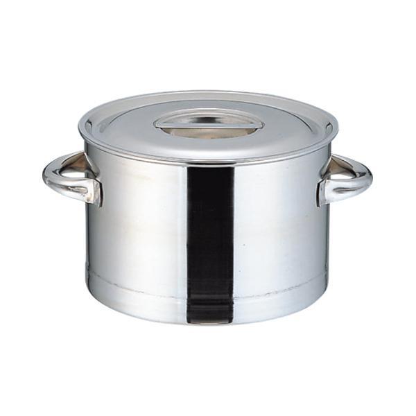 【代引き・同梱不可】モリブデン 厚底半寸胴鍋 27cm 026501-001