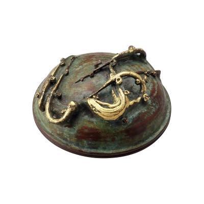 【代引き・同梱不可】高岡銅器 銅製小物 大角勲作 肉池 梅開花 54-01和風 飾り 置き物