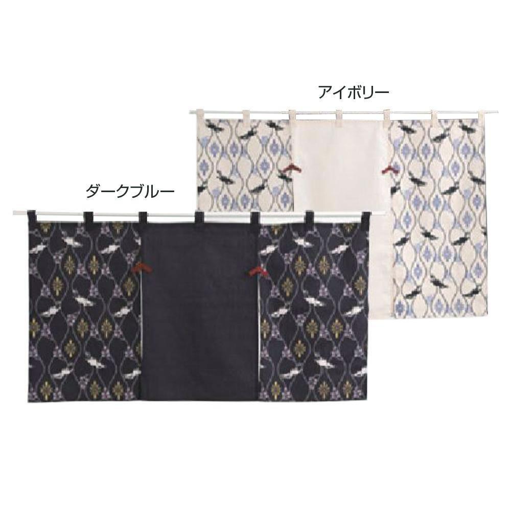 【代引き・同梱不可】川島織物セルコン 和のれん 花鳥立涌 85×150cm EL1004