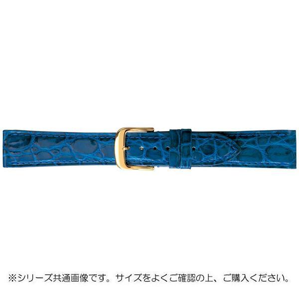 【代引き・同梱不可】BAMBI バンビ 時計バンド グレーシャス ワニ革 ブルー(美錠:金) BWA005SP
