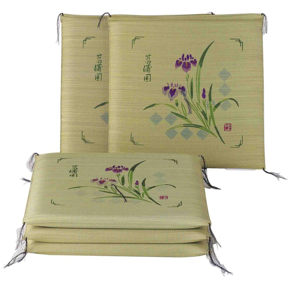 【代引き・同梱不可】い草座布団 菖蒲 約55×55cm 5枚組 HGW614438