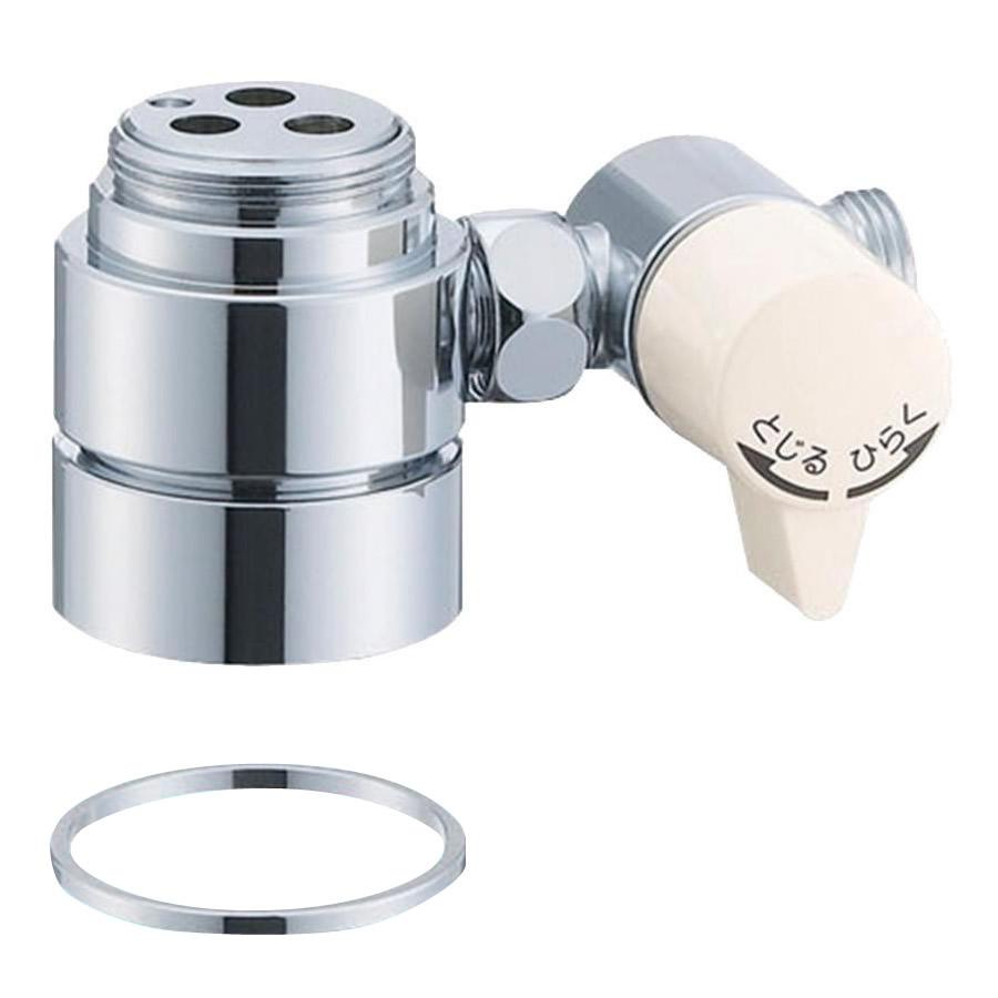 【代引き・同梱不可】三栄水栓 SANEI シングル混合栓用分岐アダプター INAX用 B98-2A