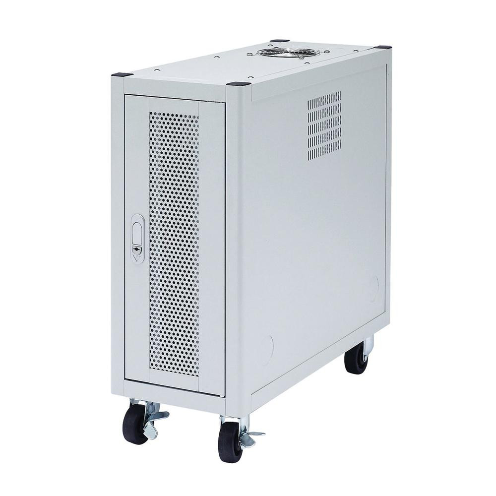 【代引き・同梱不可】サンワサプライ 縦収納19インチマウントハブボックス(2U) CP-TH2UNハブ収納ボックス 設置 キャスター