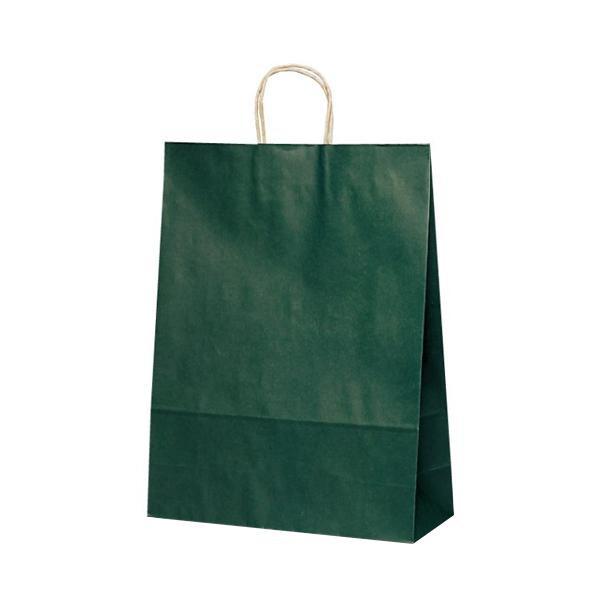 【代引き・同梱不可】T-12 自動紐手提袋 紙袋 紙丸紐タイプ 380×145×500mm 200枚 カラー(緑) 1448