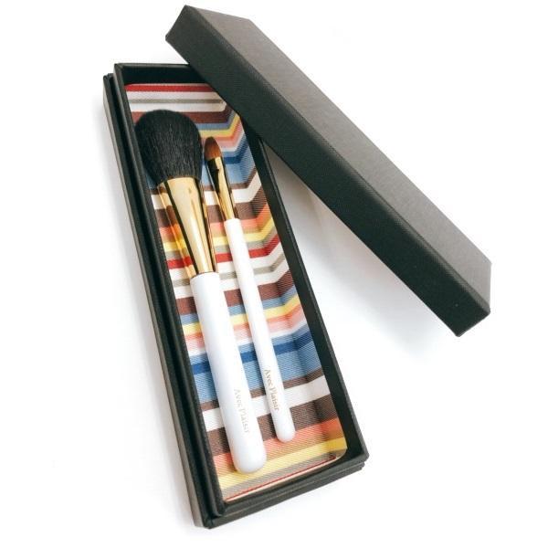 【代引き・同梱不可】喜筆 KIHITSU 熊野筆 ホワイト軸2本セット G-W2