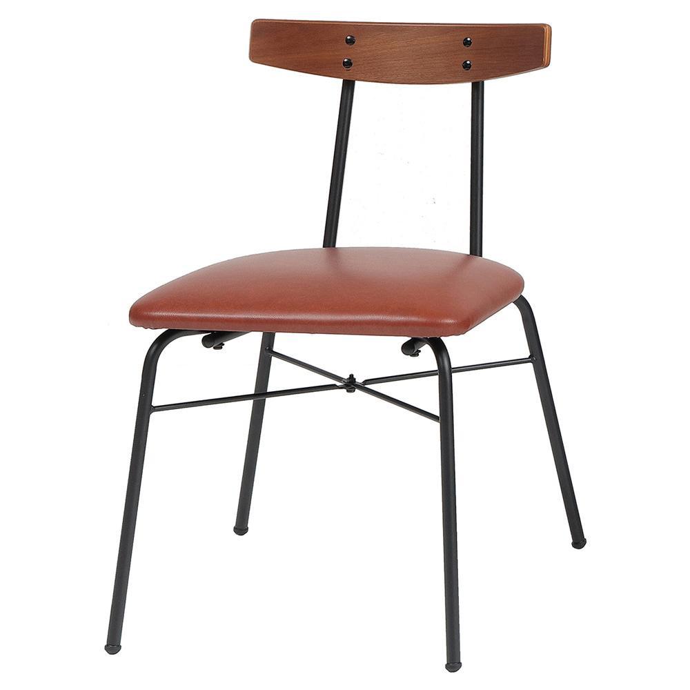 【代引き・同梱不可】anthem Chair(adap) ブラウン ANC-3227BR椅子 家具 ダイニングチェア