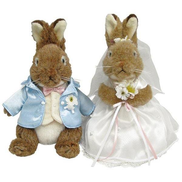 【代引き・同梱不可】PETER RABBIT (ピーターラビット) ぬいぐるみ ピーターラビット ウェディング BOX入り 182667かわいい 結婚 お祝い