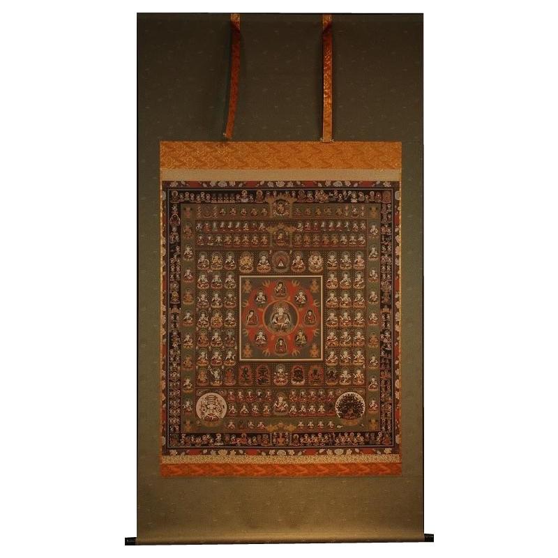 【代引き・同梱不可】胎蔵界曼荼羅 仏画掛け軸 (全紙幅) 20309