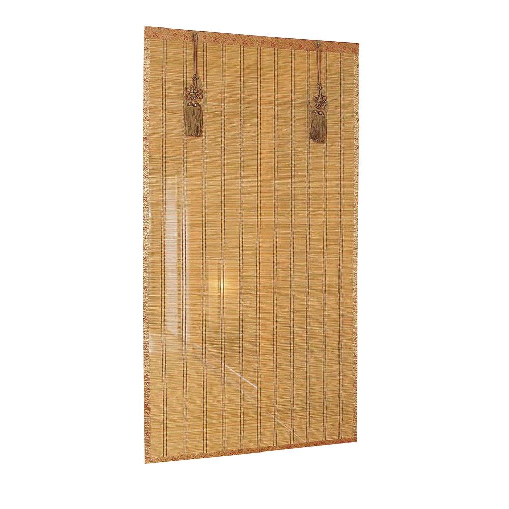 【代引き・同梱不可】竹皮ヒゴお座敷すだれ 約幅88×長さ172cm SUT888S室内 間仕切り 房