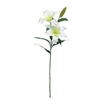 【代引き・同梱不可】アーティフィシャルフラワー カサブランカリリー ホワイト 8本セット GA0043 アレンジメント