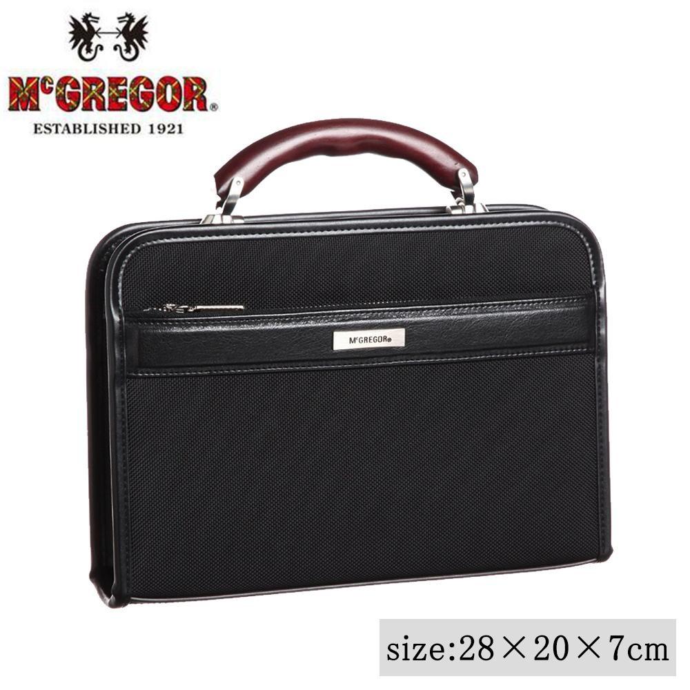 【代引き・同梱不可】日本製 ビジネスバッグ McGREGOR(マックレガー) ダレスバッグ 21956 ブラック