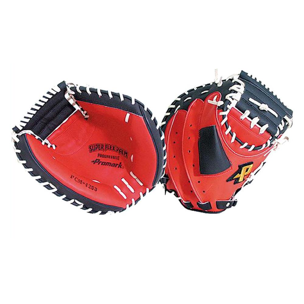 【代引き・同梱不可】Promark プロマーク 野球グラブ グローブ 軟式一般 捕手用 キャッチャーミット レッドオレンジ×ブラック PCM-4253右用 高機能モデル レザー