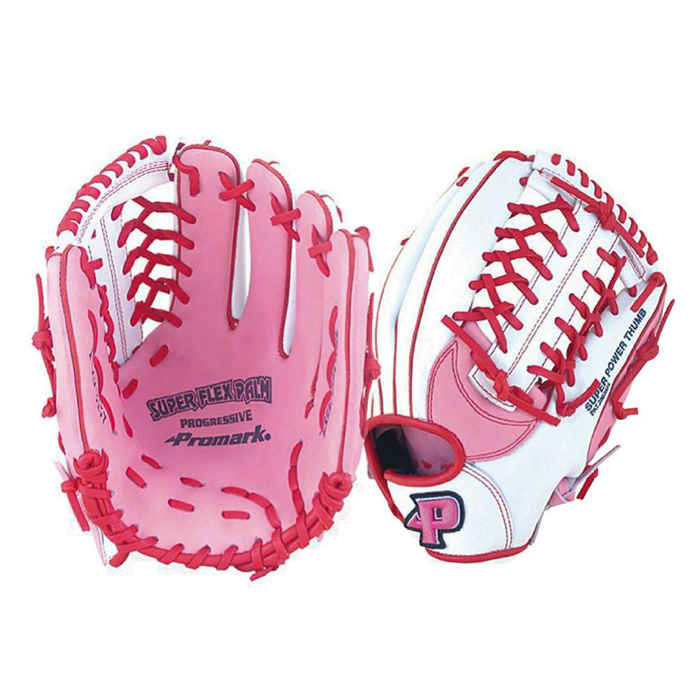 【代引き・同梱不可】Promark プロマーク グラブ グローブ ソフトボール一般 レディースオールラウンド用 Mサイズ ピンク×ホワイト PGS-3157