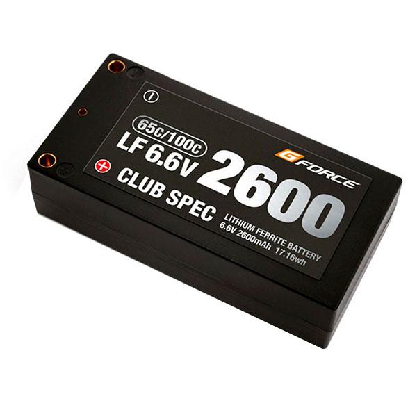 【代引き・同梱不可】G-FORCE ジーフォース CLUB SPEC LiFe 6.6V 2600mAh GFG102