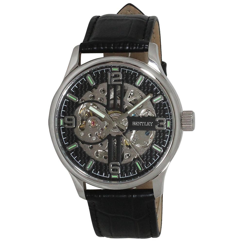 【代引き・同梱不可】BENTLEY 機械式腕時計 BT-AM073-BKSベルト レディース メンズ