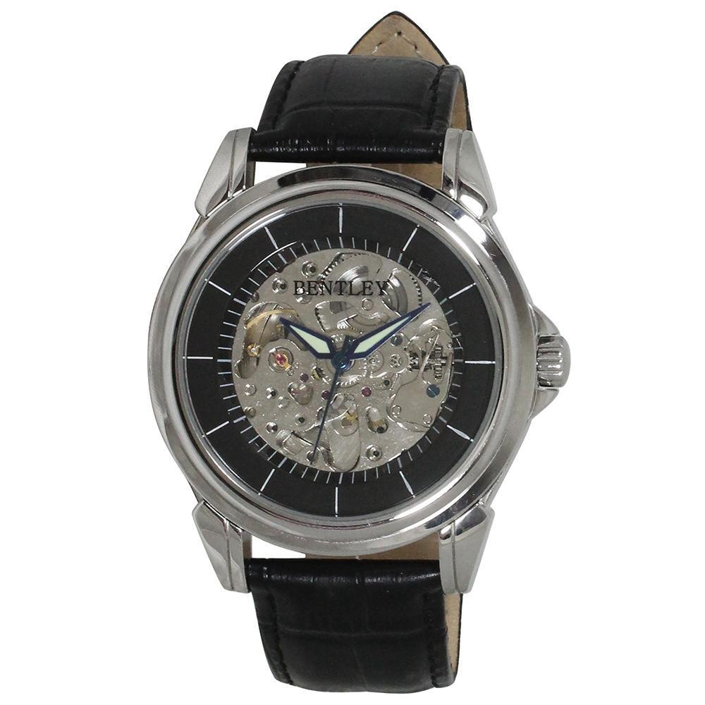 【代引き・同梱不可】BENTLEY 機械式腕時計 BT-AM074-BKSベルト プレゼント メンズ