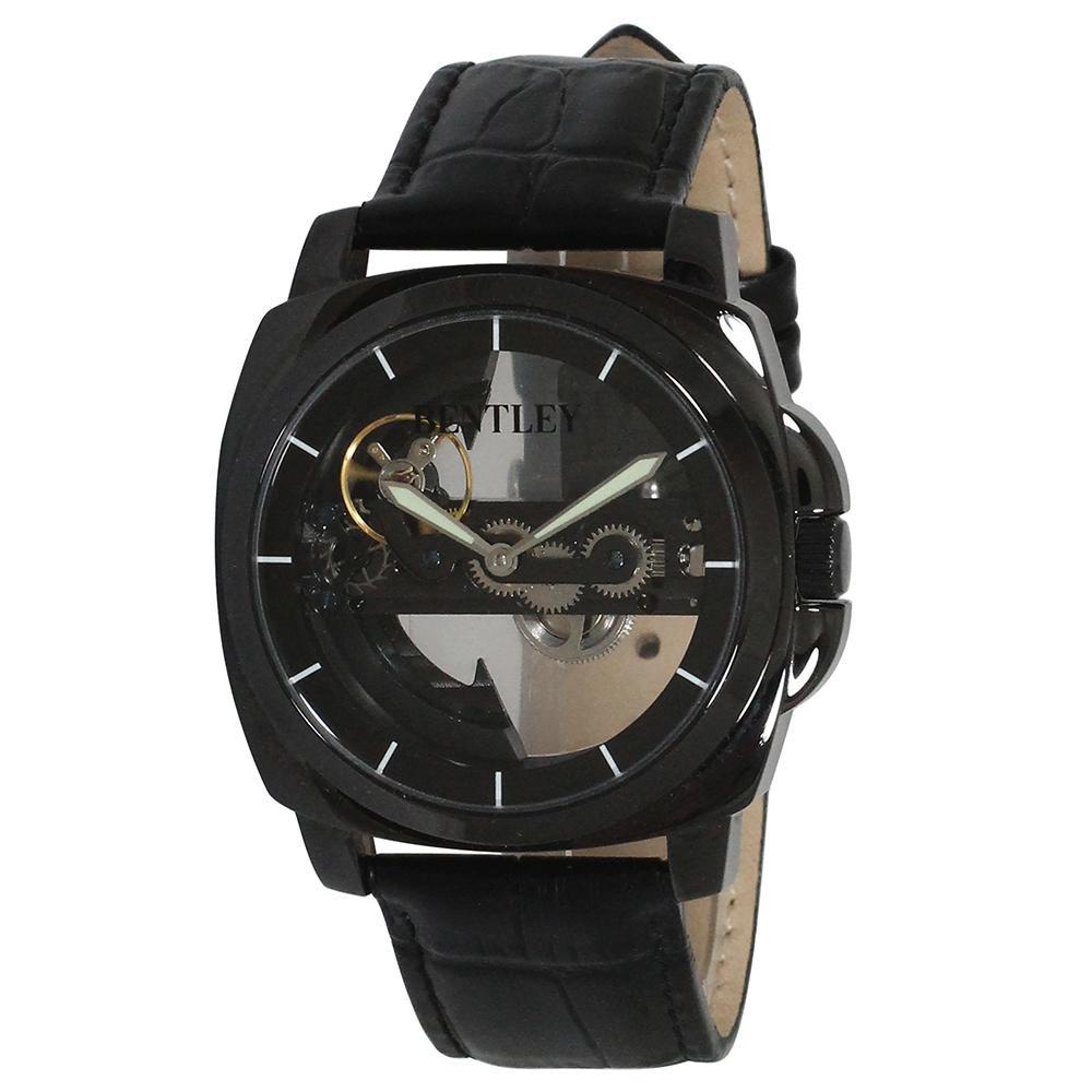【代引き・同梱不可】BENTLEY 機械式腕時計 BT-AM077-BKBメンズ プレゼント レディース