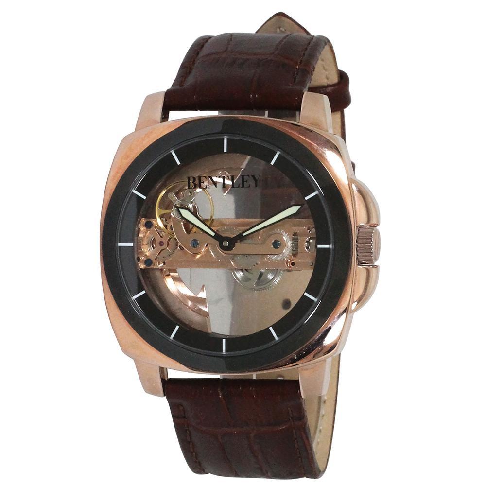 【代引き・同梱不可】BENTLEY 機械式腕時計 BT-AM077-BKPメンズ プレゼント おしゃれ