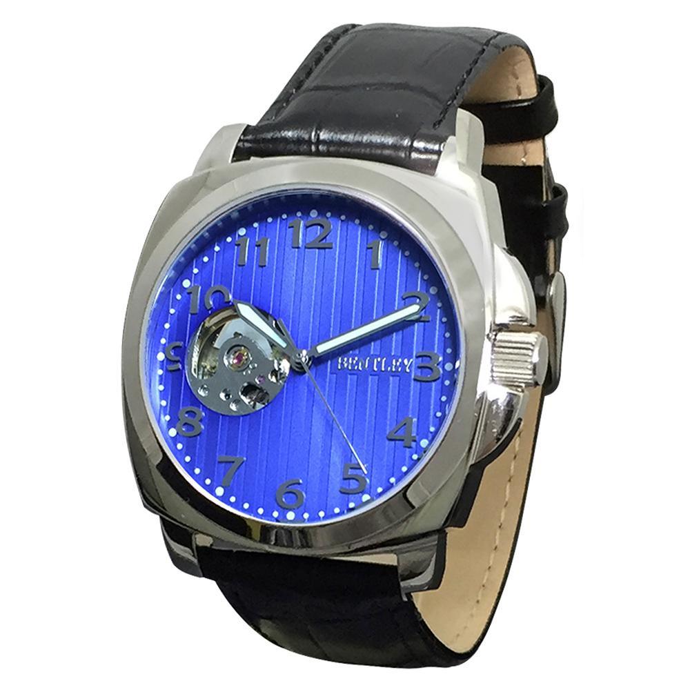 【代引き・同梱不可】BENTLEY 機械式腕時計 BT-AM079-BLSメンズ おしゃれ レディース