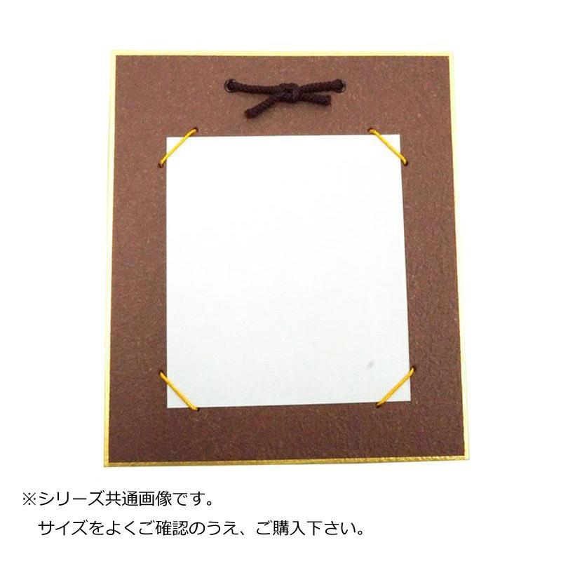 【代引き・同梱不可】大色紙掛 もみ紙 茶 12枚 0566