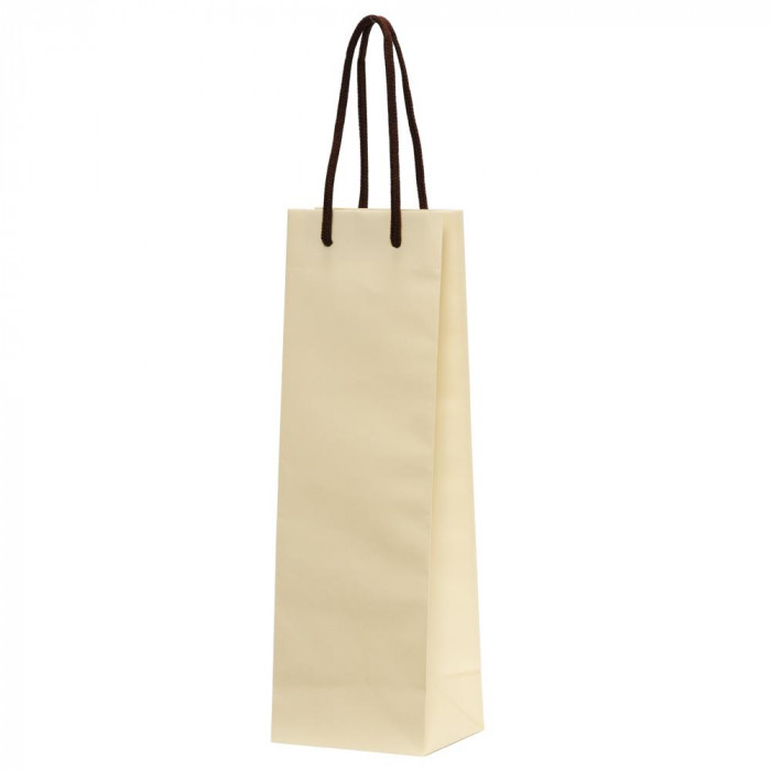 【代引き・同梱不可】パックタケヤマ 手提袋 HTワインバッグ アイボリー 10枚×10束 XZV65502紙袋