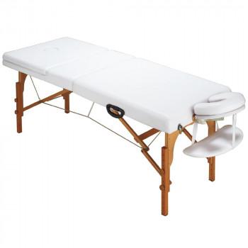 【代引き・同梱不可】サロン向け 木製折り畳みベッド CB-920(マクラ・肘掛け付き) ホワイト 59201