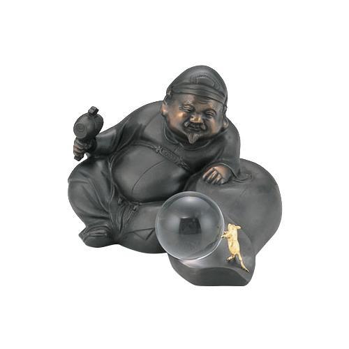 【代引き・同梱不可】高岡銅器 銅製置物 満天大黒 40-06