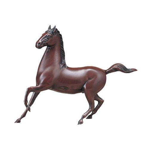 【代引き・同梱不可】高岡銅器 銅製置物 道具芳山作 勇馬 10号 49-03