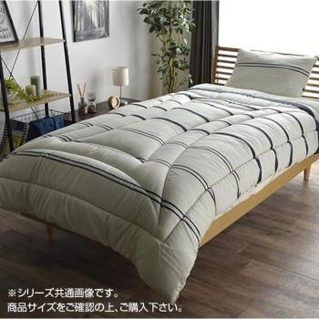 【代引き・同梱不可】寝具 3点セット(掛け布団・敷き布団・枕) シングルロング アイボリー 6701230
