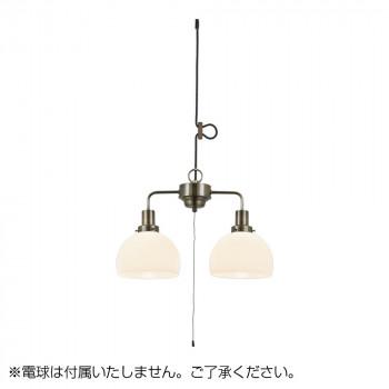 【代引き・同梱不可】ペンダントライト 鉄鉢硝子 セード 2灯用ローカンビス止めCP型BR (電球なし) GLF-3507BRX