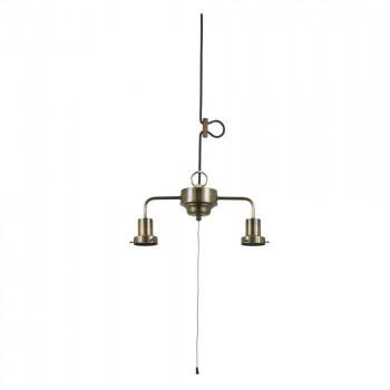 【代引き・同梱不可】2灯用ローカンビス止めCP型吊具 (真鍮ブロンズ鍍金) GLF-0294BR