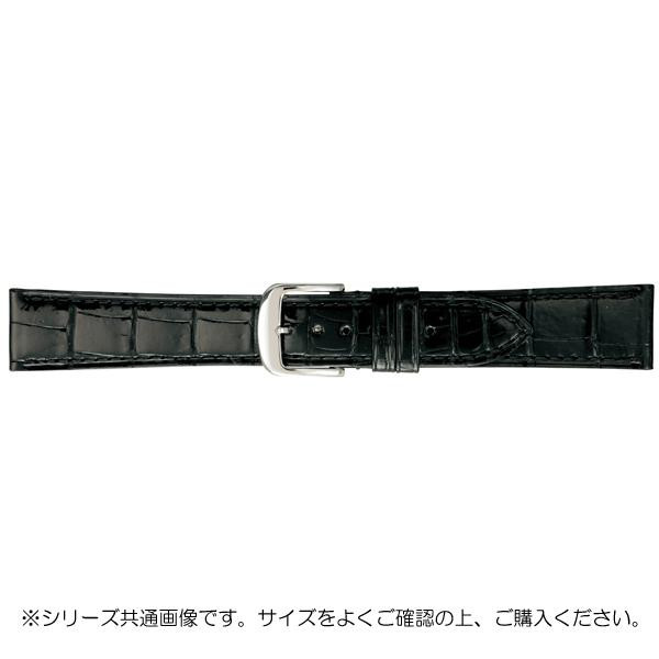 【代引き・同梱不可】BAMBI バンビ 時計バンド グレーシャス ワニ革 黒(美錠:白) BWA005AO