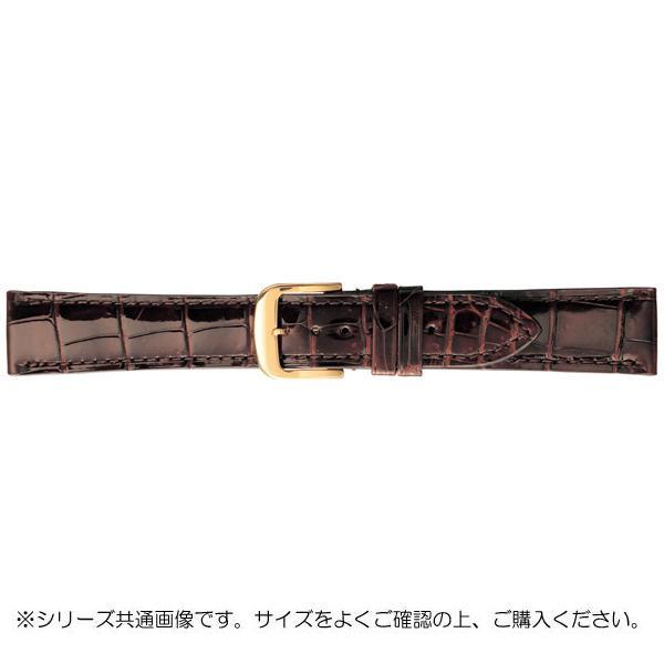 【代引き・同梱不可】BAMBI バンビ 時計バンド グレーシャス ワニ革 チョコ(美錠:金) BWA005BR