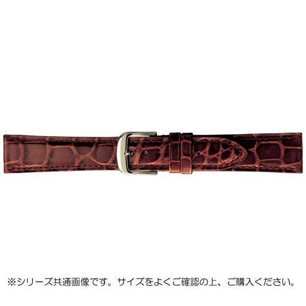 【代引き・同梱不可】BAMBI バンビ 時計バンド グレーシャス ワニ革 茶(美錠:白) BWA005CP