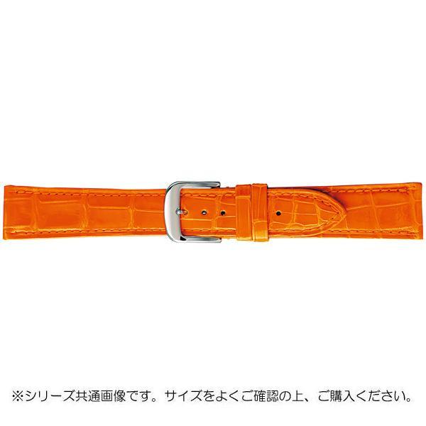 【代引き・同梱不可】BAMBI バンビ 時計バンド グレーシャス ワニ革 オレンジ(美錠:白) BWA005LS