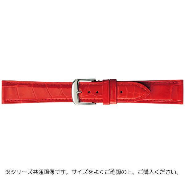 【代引き・同梱不可】BAMBI バンビ 時計バンド グレーシャス ワニ革 赤(美錠:白) BWA005RP