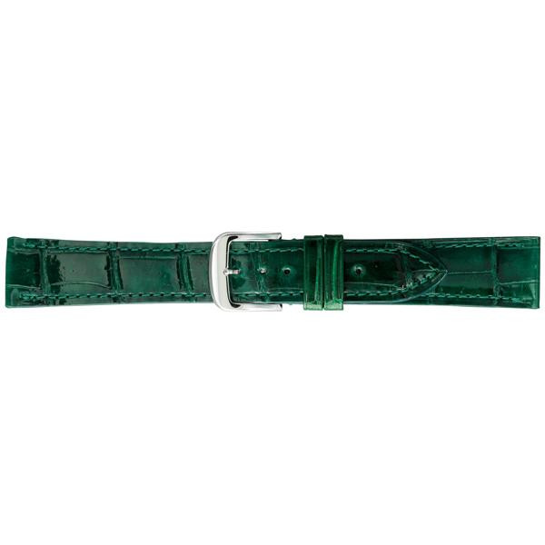 【代引き・同梱不可】BAMBI バンビ 時計バンド グレーシャス ワニ革(クロコダイル) グリーン BWA005MP