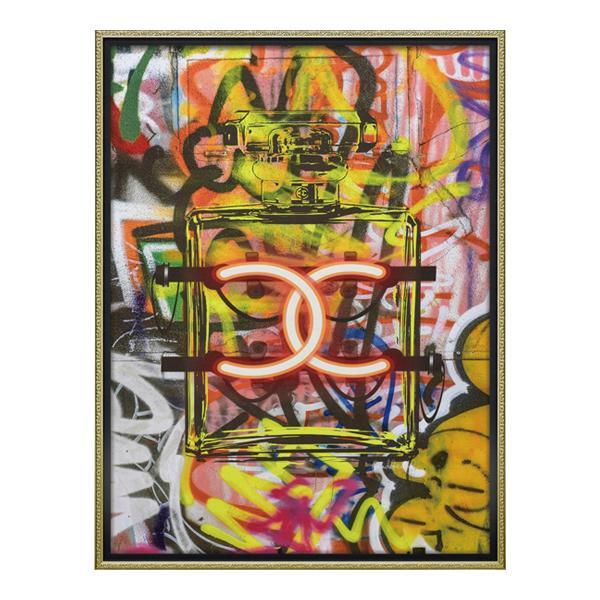 【代引き・同梱不可】ユーパワー オマージュ キャンバスアート 「グラフィティ パフューム1(Lサイズ)」 BC-18015
