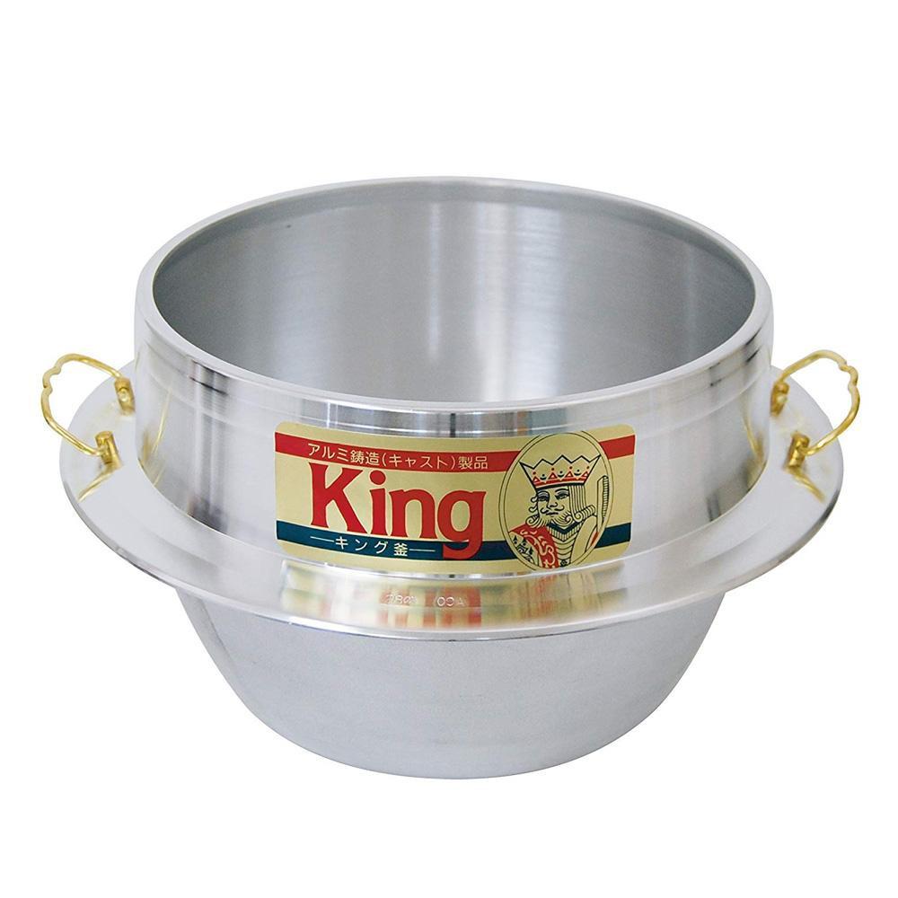 【代引き・同梱不可】キング釜 30cm(3升3合炊き)