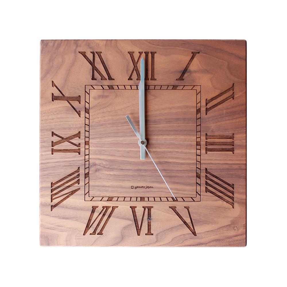 【代引き・同梱不可】ヤマト工芸 MUKU -ローマ数字- YK14-101 ウォールナット