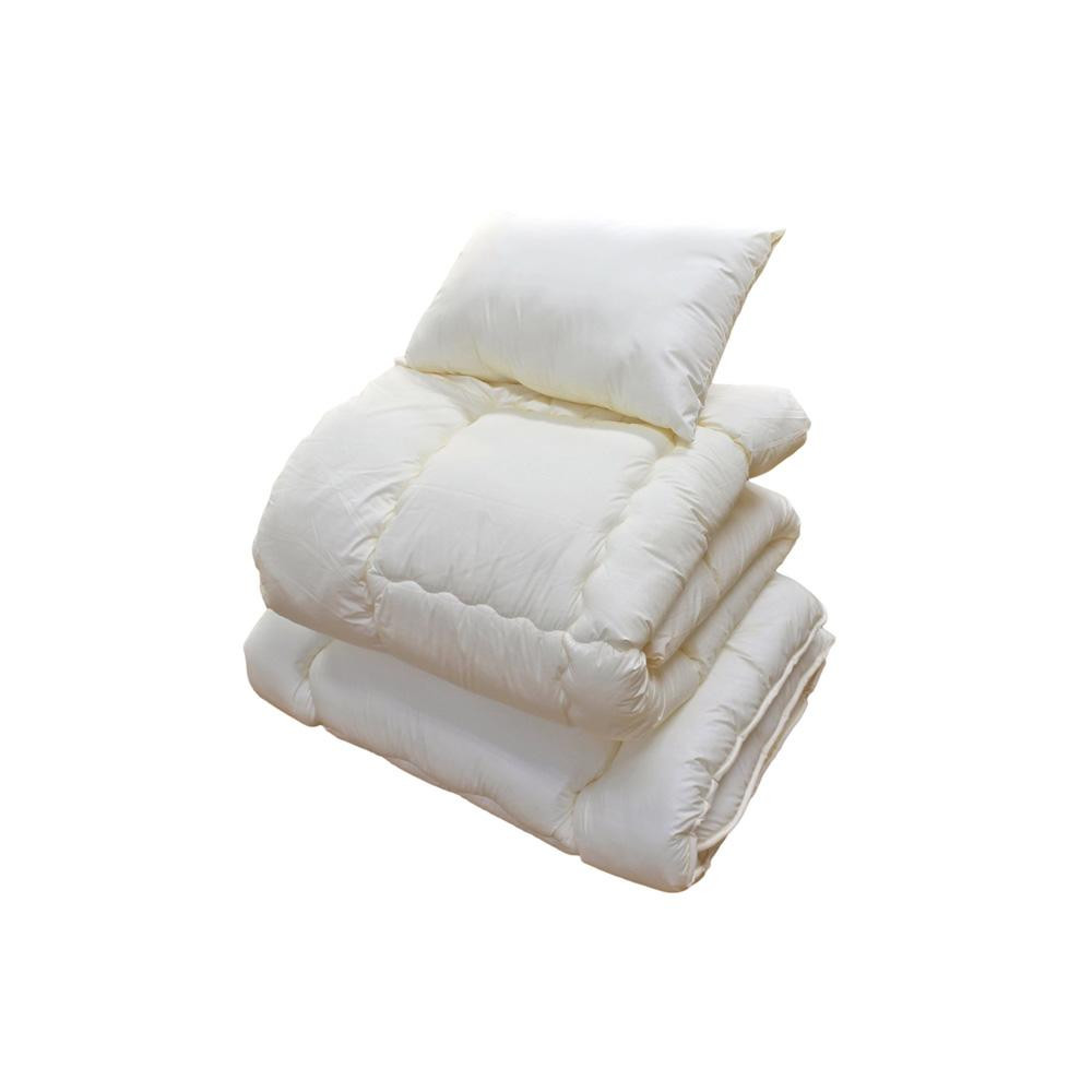 【代引き・同梱不可】防ダニ・抗菌防臭・吸汗速乾わた使用! ふとん3点セット(掛ふとん、敷ふとん、枕)布団 清潔 ダニ防止