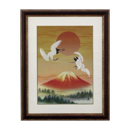 【代引き・同梱不可】高岡銅器 彫金パネル 北光修作 宴 146-05