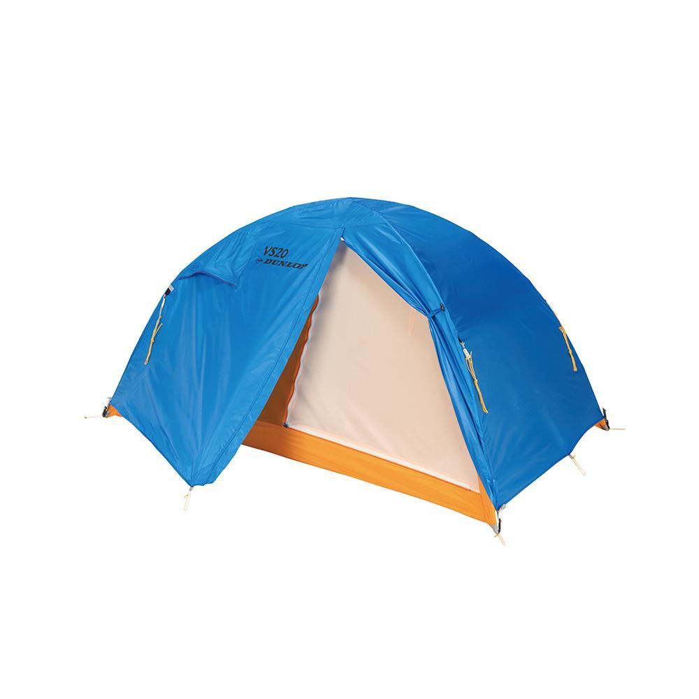 【代引き・同梱不可】VS-Series コンパクト登山テント 2人用 ブルー VS-20